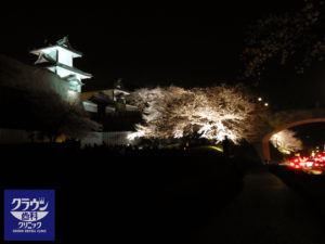 夜桜の金沢城