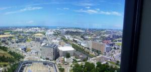 県庁の展望台から金沢港を撮影